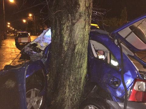 Car crash in Bloxwich 31-12-15