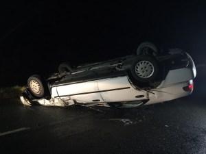 Car overturned in Honeybourne 11-12-15