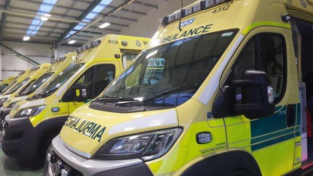 Ambulances in hub