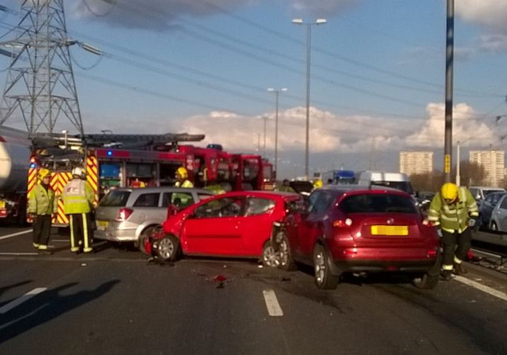 Woman and two children injured in M6 collision