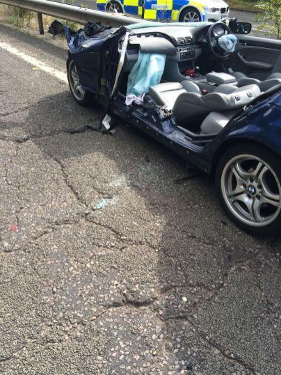 CAR V HGV LEAVES THREE INJURED IN BIRMINGHAM 1