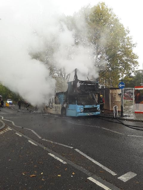 Bus Fire, Coventry (17-10-18)