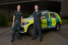 Critical Care Paramedic Jack Lewis and Dr Matt Rowley