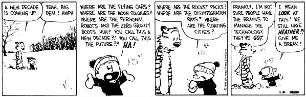 Calvin wonders about predictions