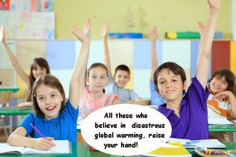 Raise your hand if you believe in disastrous global warming