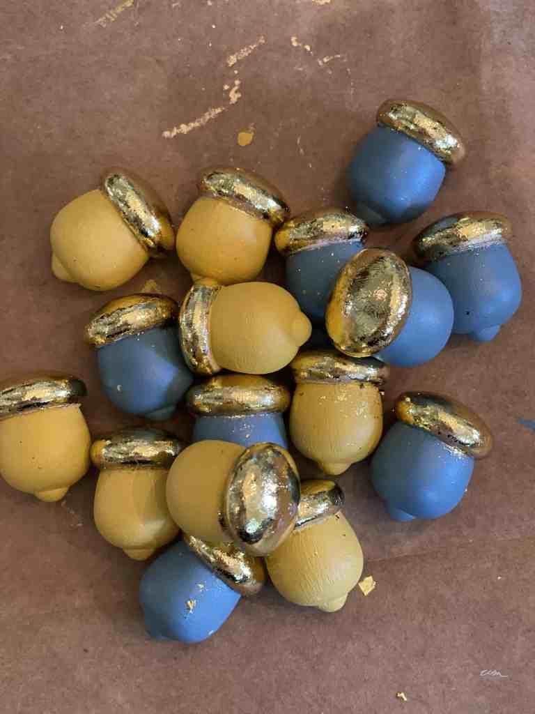 Decorate with acorns