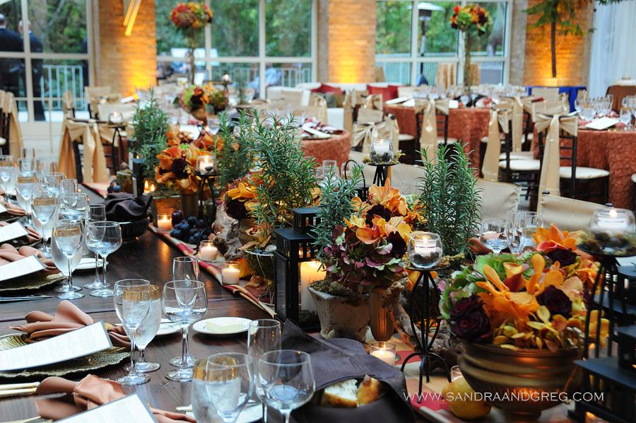 Tuscan Autumn Themed Wedding Fernbank Museum Atlanta GA  WM EventsWM Events