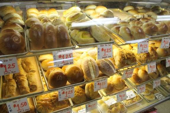 Vietnamese and Chinese inspired baked goods fill up the bakery case at Saigon Market.