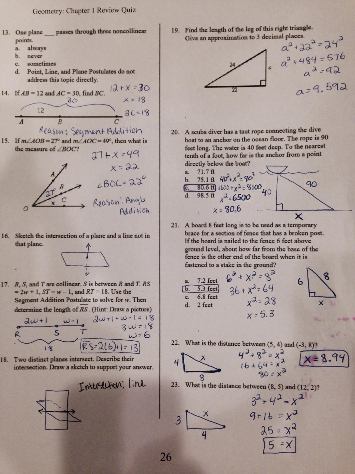 Geometry Extra Practice