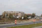 Budowa linii tramwajowej przy ulicy Płoskiego (26 października 2014)