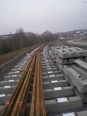 Budowa linii tramwajowej przy ulicy Płoskiego (22 listopada 2014)
