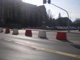 Skrzyżowanie ulicy Kopernika z aleją Piłsudskiego (8 marca 2015)