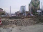 Budowa linii tramwajowej na placu Ofiar Katynia (20 marca 2015)
