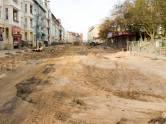 Budowa linii tramwajowej w ulicy Kościuszki (3 kwietnia 2015)