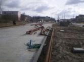 Budowa linii tramwajowej przy ulicy Witosa (17 kwietnia 2015) - przystanek końcowy przy skrzyżowaniu z ulicą Kanta