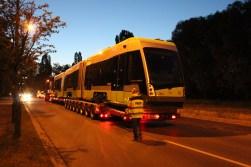 Pierwszy Solaris Tramino Olsztyn (numer taborowy #3001) wyrusza z fabryki Solarisa w Poznaniu w drogę do Olsztyna (10 czerwca 2015)