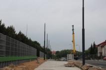 Budowa linii tramwajowej przy alei Sikorskiego (18 czerwca 2015)