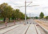 Budowa linii tramwajowej w ulicy Towarowej (12 lipca 2015)