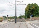 Budowa linii tramwajowej przy ulicy Obiegowej (12 lipca 2015) - przystanek Szpital Wojewódzki