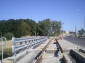 Budowa linii tramwajowej przy ulicy Tuwima (15 sierpnia 2015) - most nad Łyną