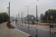 Budowa linii tramwajowej przy ulicy Tuwima (18 października 2015) - przystanek końcowy Uniwersytet-Prawocheńskiego