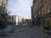 Budowa linii tramwajowej w ulicy 11 Listopada (4 października 2015)