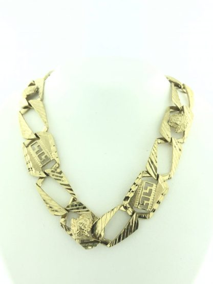 10K YELLOW GOLD NECKLACE/45.9G/26""