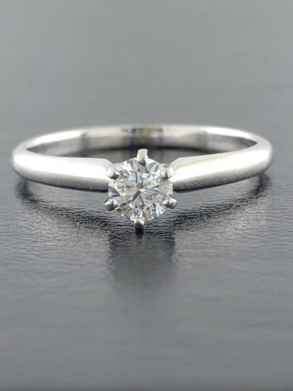 14K WHITE GOLD ENGAGEMENT RING/2.1G/ .033CT CENTER DIAMOND/7.75""