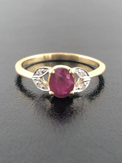 "14K YELLLOW GOLD/2.4G/SIZE 6.50"" RUBY"