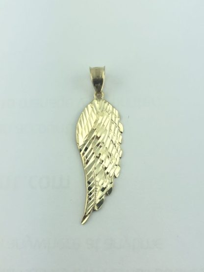 14K YELLOW GOLD ANGEL WING CHARM/1.9G