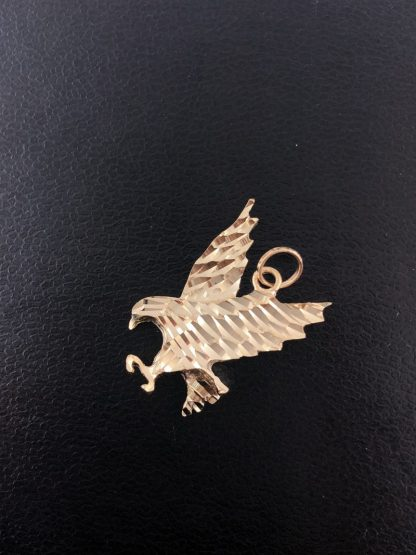 14K YELLOW GOLD EAGLE PENDANT/2.0G