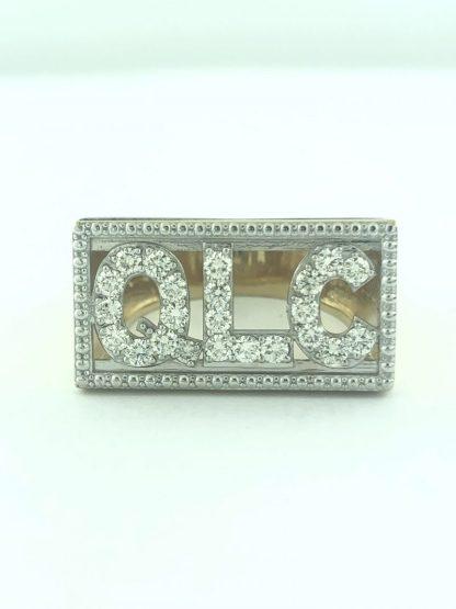 14K YELLOW GOLD MEN'S RIN/20G/2.00 CARAT DIAMOND