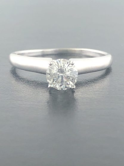 14K WHITE GOLD ENGAGEMENT RING/3.5G/0.75CT TDW/10.25""