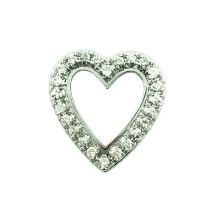 DIAMOND HEART CHARM- 14K WHITE GOLD| 5.9 GRAMS| 1.00CT TDW