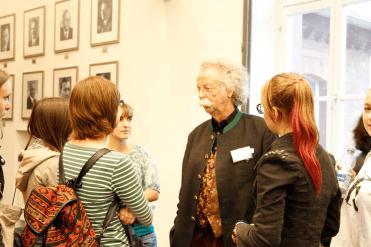 Auch Jean Pütz stand den Studierenden Rede und Antwort (Foto: Tanja Schmith)