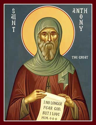 St Anthony the Great, founder of Christian Monasticism
