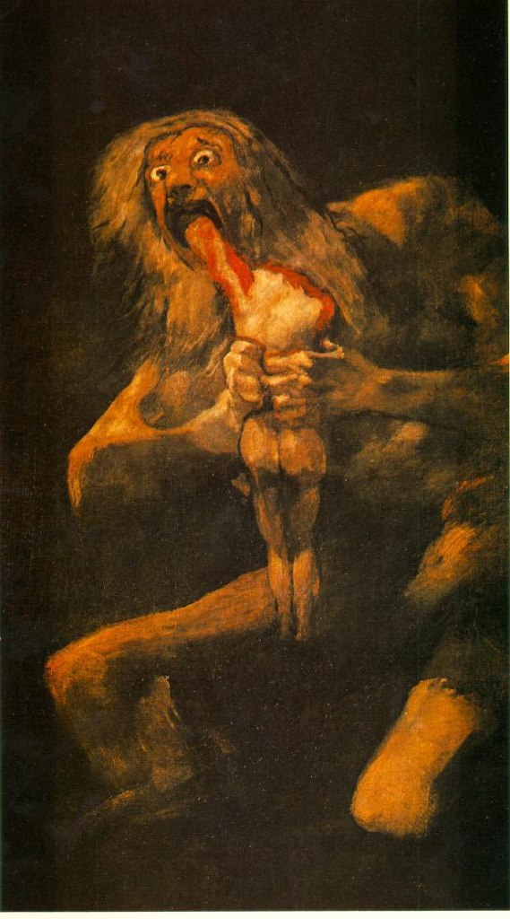 Saturn Devouring One Of His Sons, by Francisco Goya