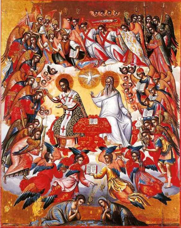 Icon of the Holy Liturgy, Michael Damaskenos, from the 16th century Cretan school