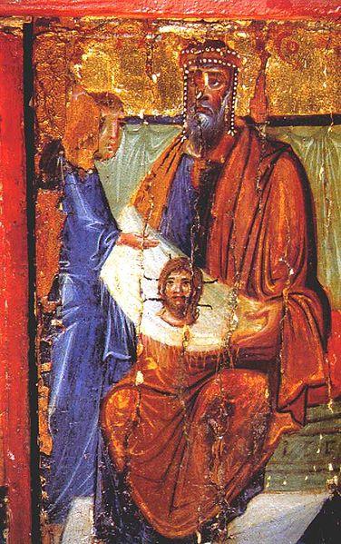 King Agar receiving the Mandilion from Thaddeus