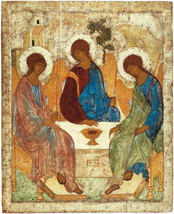 The Holy Trinity by the hand of Andrei Rublev