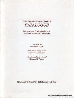 Catalogue, Dead Sea Scrolls