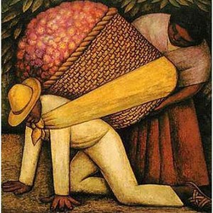"""The Flower Carrier"" (1935) by Diego Rivera."