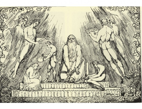 Enoch Lithograph by William Blake