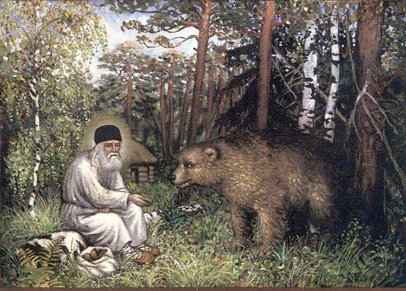 St Seraphim of Sarov and the Bear