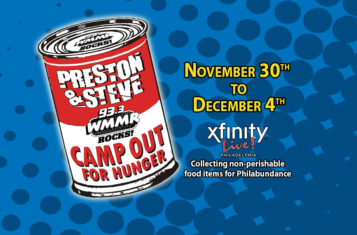 Preston  Steves Camp Out For Hunger Headquarters  933 WMMR