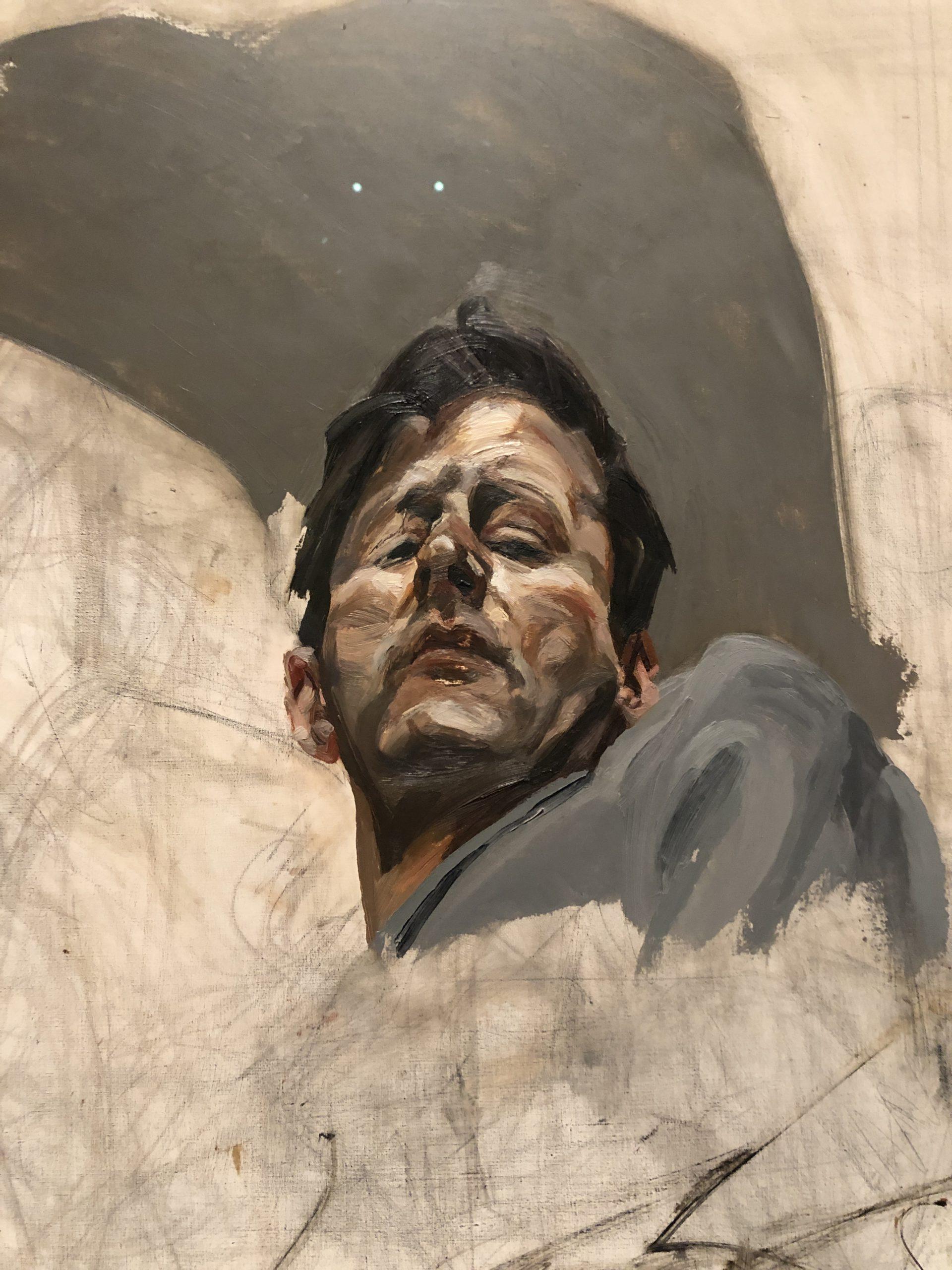 Image of artwork titled Self-portrait reflection fragment by artist Lucian Freud