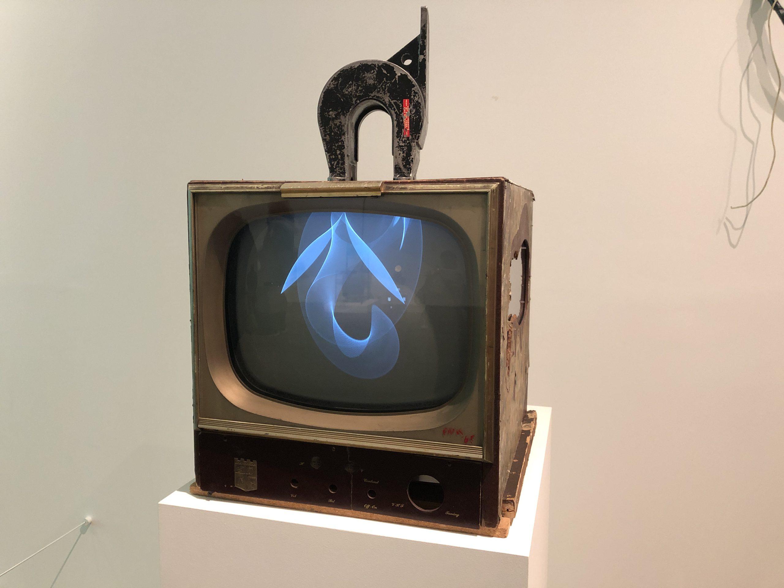 Image of artwork titled Magnet TV by artist Nam June Paik