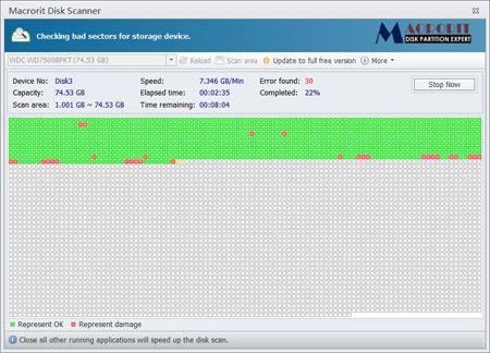 Macrorit Disk Scanner 硬碟磁軌掃描工具   WanMP Online System