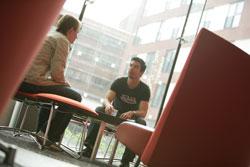Student common room at Aston University