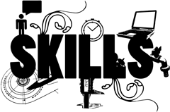 Skills graphic from chapter 5 of Fit for the Future book